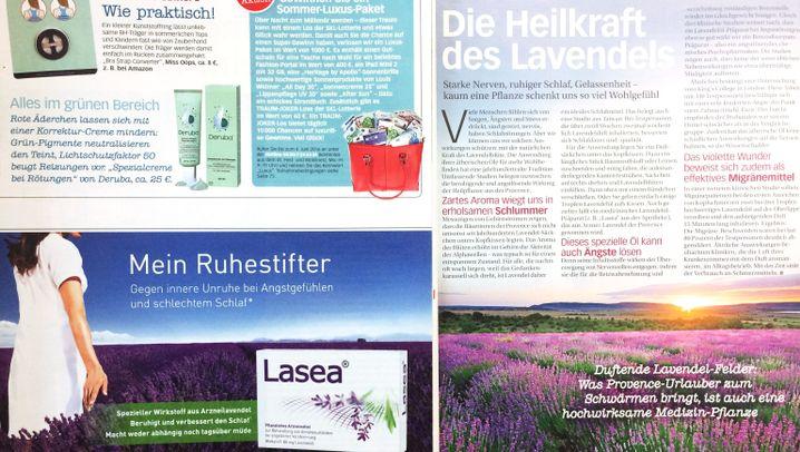 """Produkterwähnungen in Frauenzeitschriften: """"Zartes Aroma wiegt uns in erholsamen Schlummer"""""""