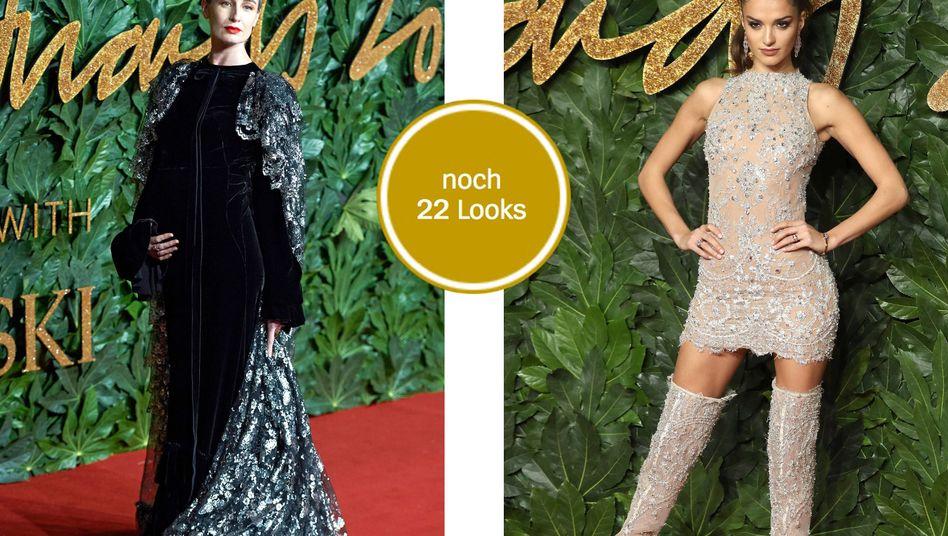 Erin O'Connor und Gabrielle Caunesil bei den Fashion Awards