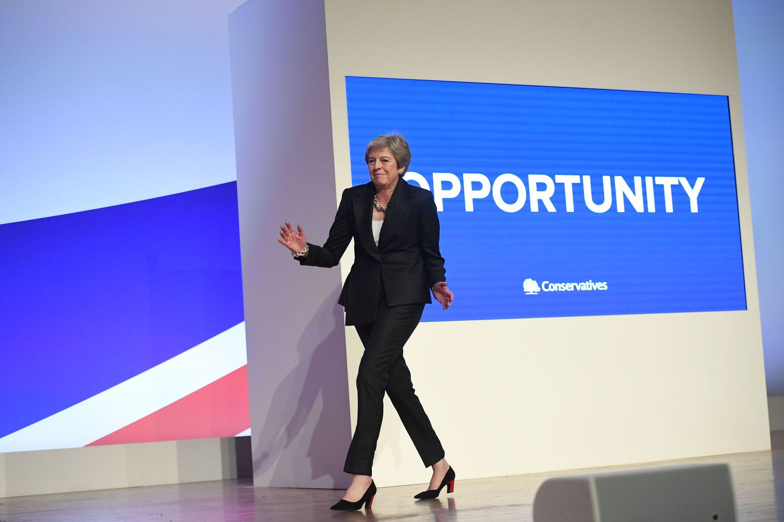 "EINMALIGE VERWENDUNG ""Maybot"" Conservative Party annual conference 2018"
