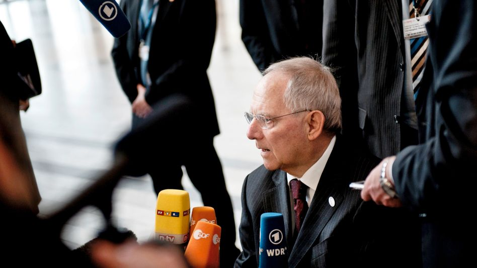 German Finance Minister Wolfgang Schäuble (seen here at last week's summit in Copenhagen) wants to establish independent panels to monitor countries' budgets.