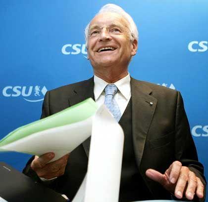 """Designierter Wirtschaftsminister Stoiber: """"Gemeinsame Aufgabe"""""""
