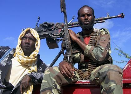 American concern about Islamist militants, such as these Islamist fighters in Somalia, gaining safe havens in weak African countries is one reason behind the decision to establish a new African Command.