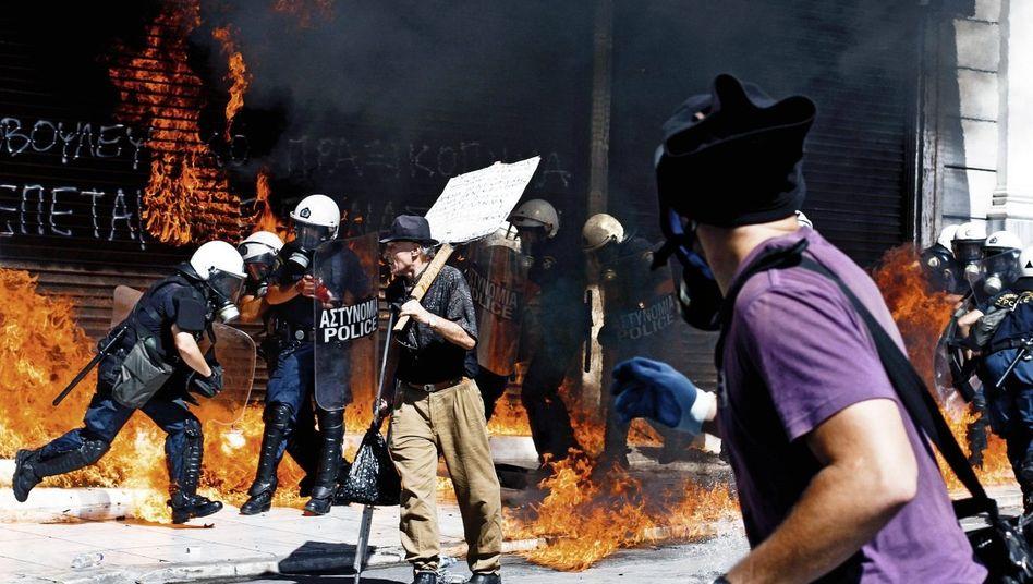 Proteste in Athen am vergangenen Mittwoch: Rest-Europa hat Angst bekommen