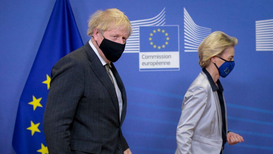 Boris Johnson, Ursula von der Leyen: »Sie führen ein strenges Regiment«