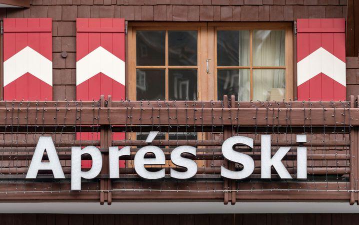 Après-Ski-Bar im Erholungsort Ischgl