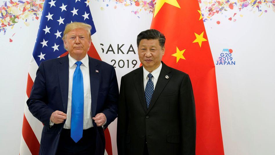 Donald Trump und Xi Jinping: Waffen gezeigt