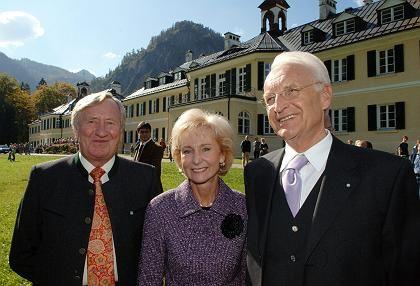 Hans Zehetmair, Karin Stoiber und ihr Mann Edmund (v.l.): Mahnungen in Wildbad Kreuth