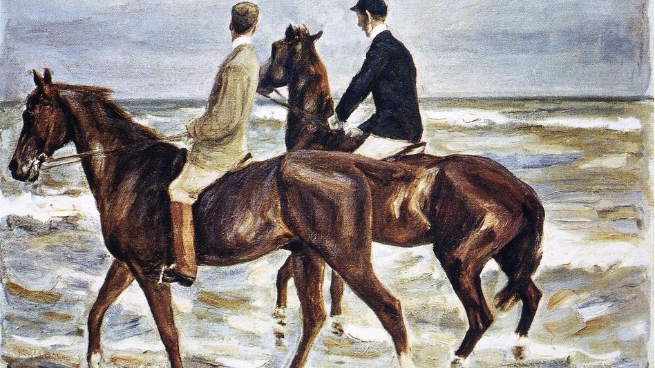 Liebermann-Gemälde »Zwei Reiter am Strand«, 1901