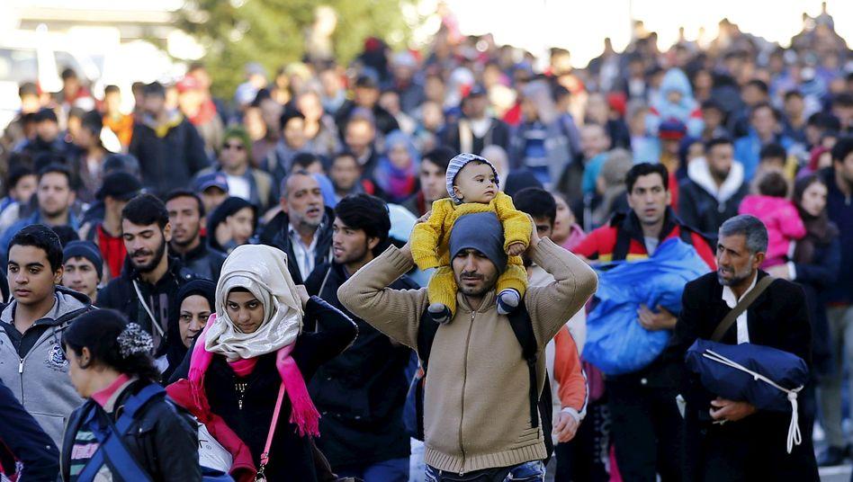 Flüchtlinge auf dem Weg von Slowenien nach Österreich: Chaos auf der Route