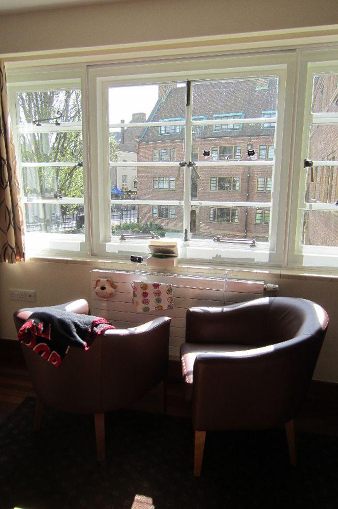 Elisas Zimmer an der Uni Cambridge