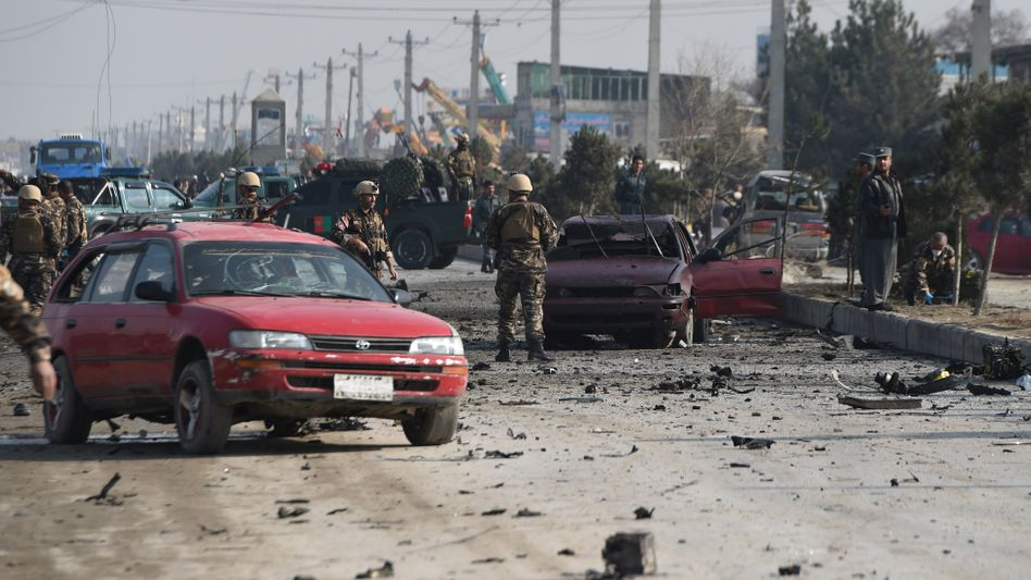 Tatort eines Selbstmordanschlags in Afghanistan: 38 Selbstmordattentate im November weltweit