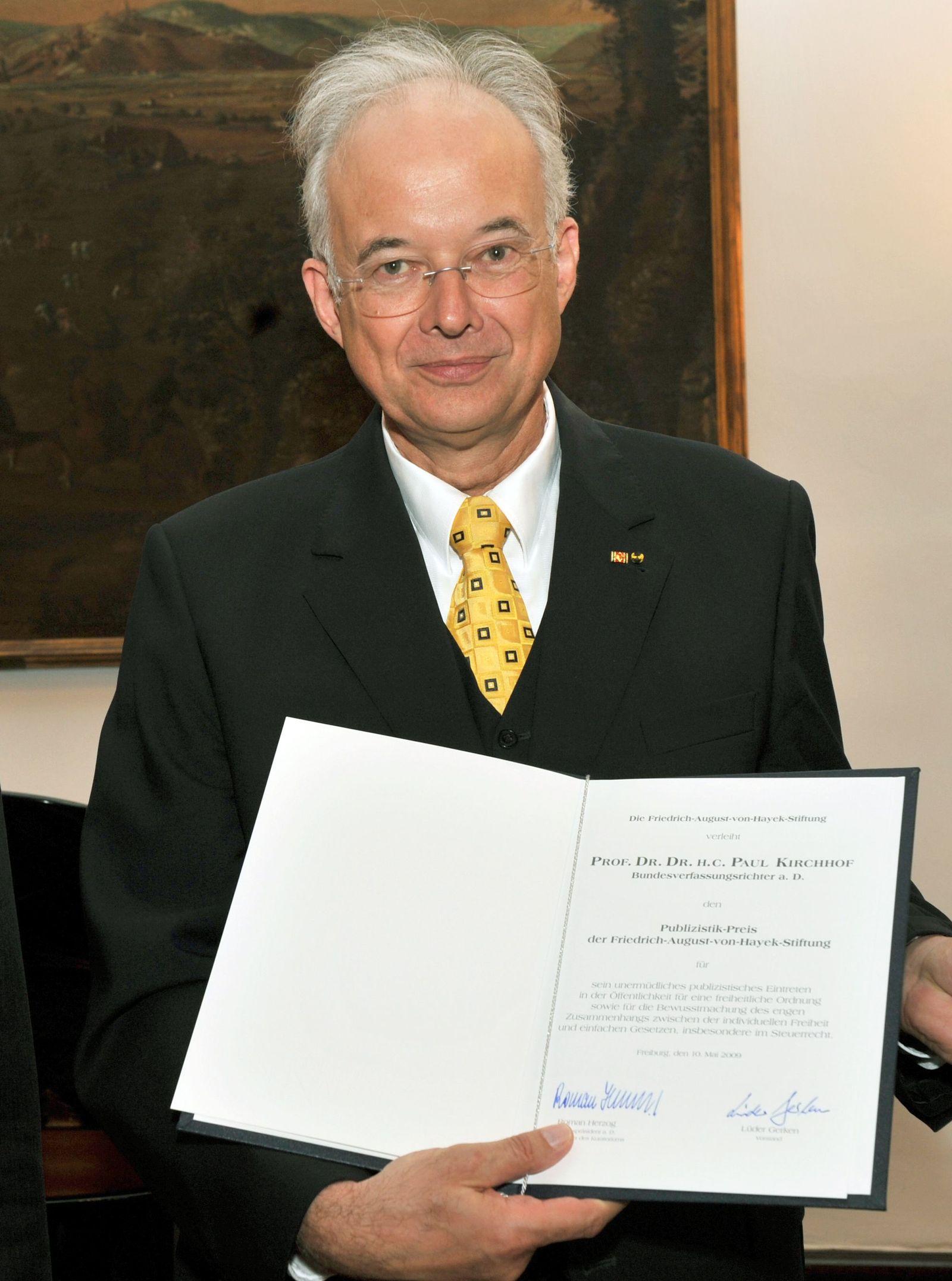 Paul Kirchhof / Hayek-Preises