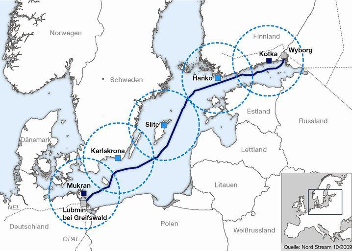 Verlauf der Nord Stream