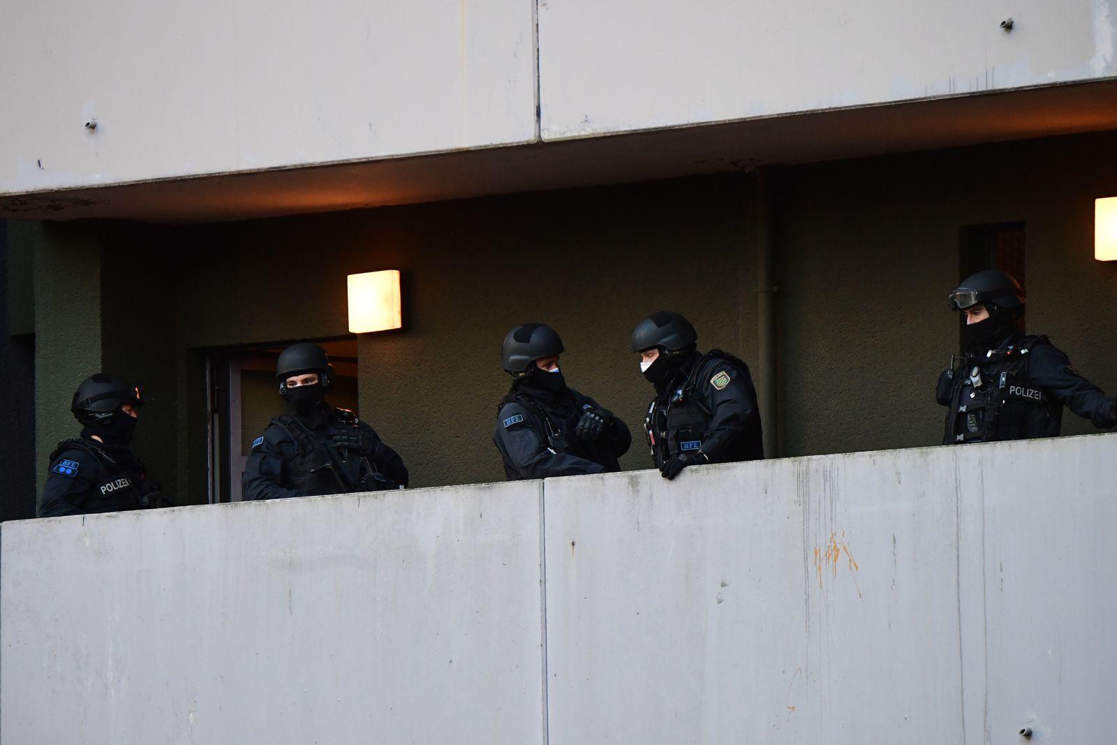 Police raid linked to burglary at Green Vault in Dresden, Berlin, Germany - 17 Nov 2020