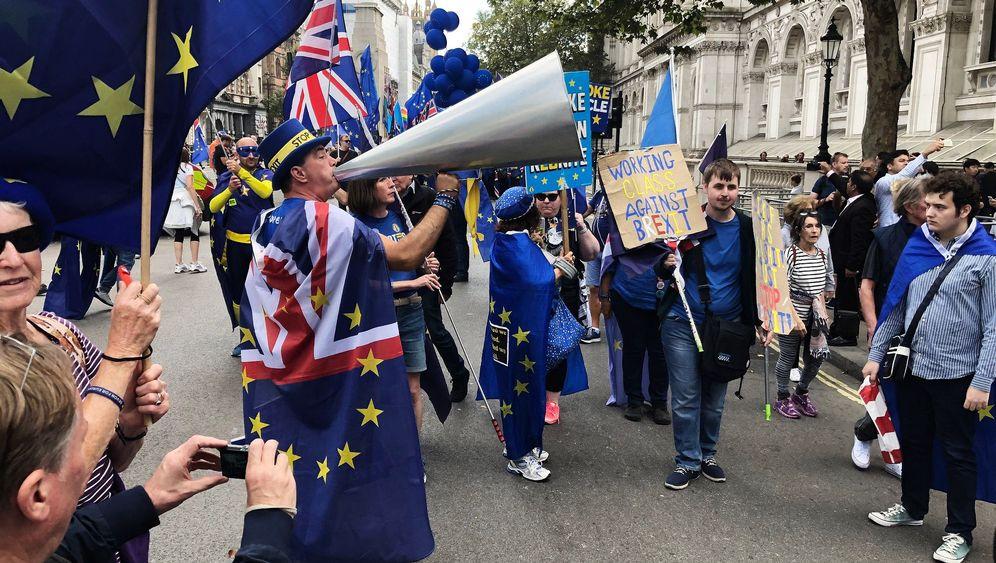 Brexit-Gegner: Empört und kostümiert