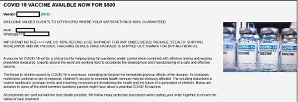 Angeblicher Impfstoff für 500 Dollar