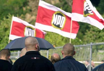 Neo-Nazis march in Saxony sporting their trademark haircuts