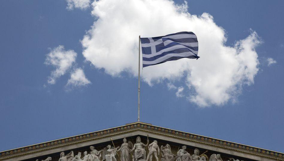 Griechische Flagge über Athener Akademie: Luft für Verhandlungen