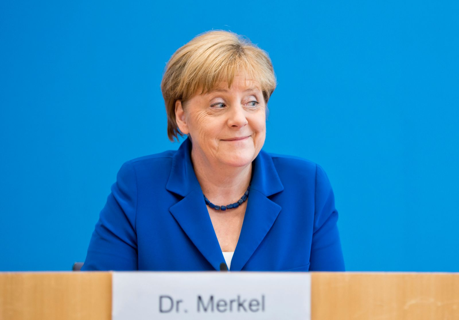 German Chancellor Merkel Holds Her Annual Summer Press Conference