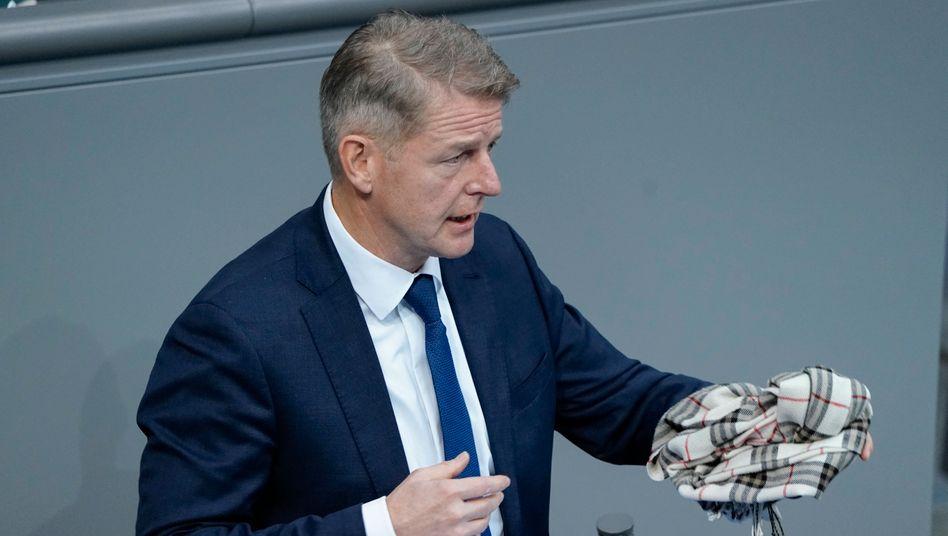 Karsten Hilse am vergangenen Freitag im Bundestag