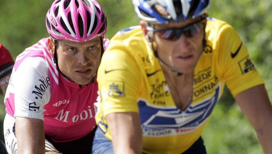Ex-Radprofis Ullrich (l.) und Armstrong: Überführte Dopingsünder