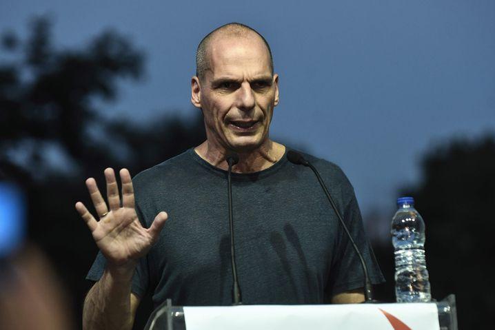 Yanis Varoufakis bei einer Wahlkampfveranstaltung
