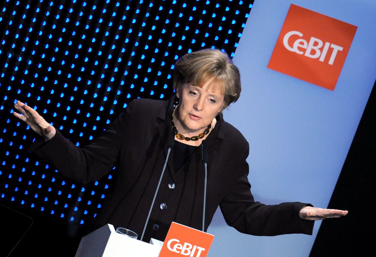 Angela Merkel CeBIT 2009 - Eröffnung