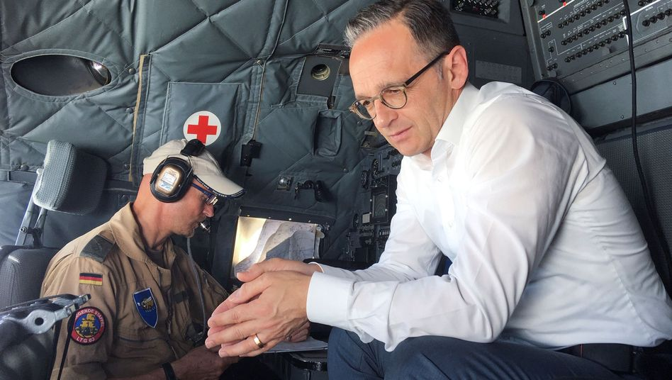 Außenminister Heiko Maas am Flughafen Bagdad