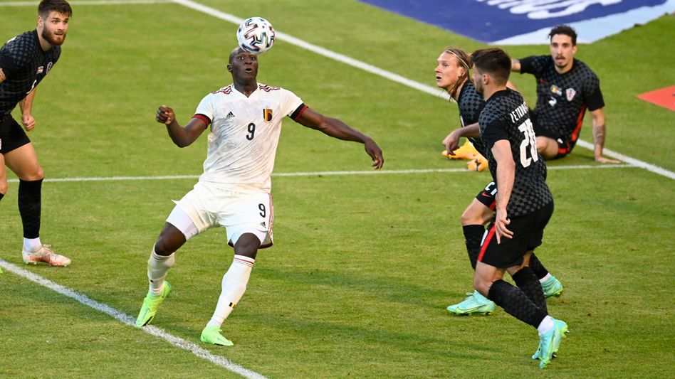 Belgiens Topangreifer Romelu Lukaku: Nur schwer vom Ball zu trennen