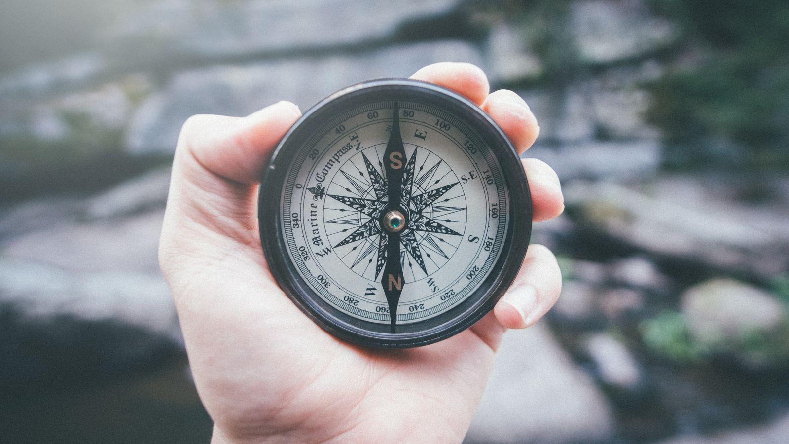 EINMALIGE VERWENDUNG Kompass / Symbol