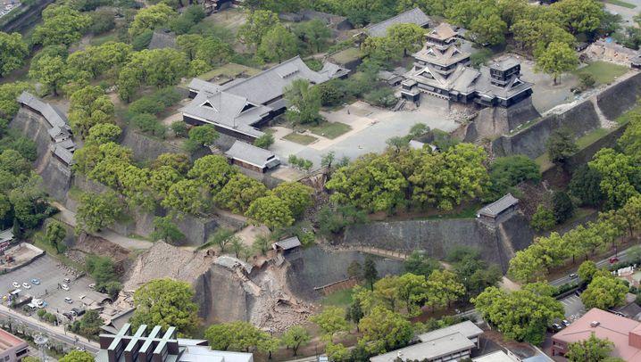 Kumamoto: Große Schäden bei Touristenattraktionen