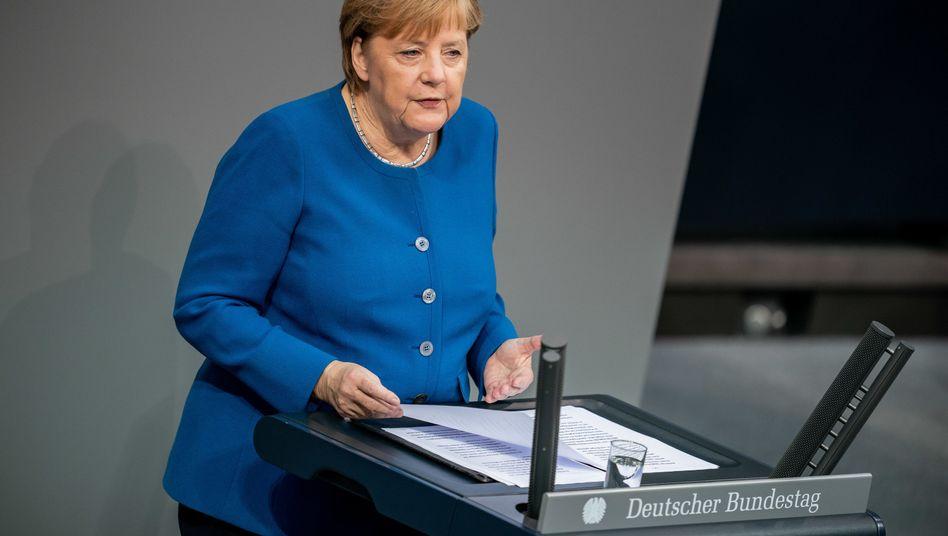 """Merkel am 17. Oktober im Bundestag: """"Unter den jetzigen Bedingungen keine Waffen an die Türkei liefern"""""""
