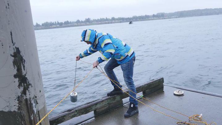Tiefwassertest mit Dose