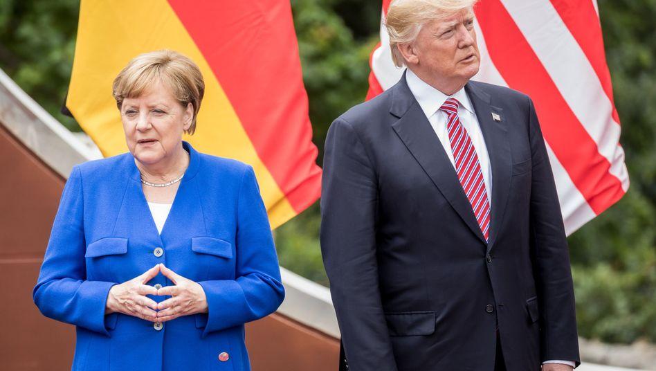 Merkel und Trump auf G7-Gipfel in Taormina