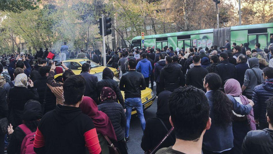 Demonstranten in Teheran