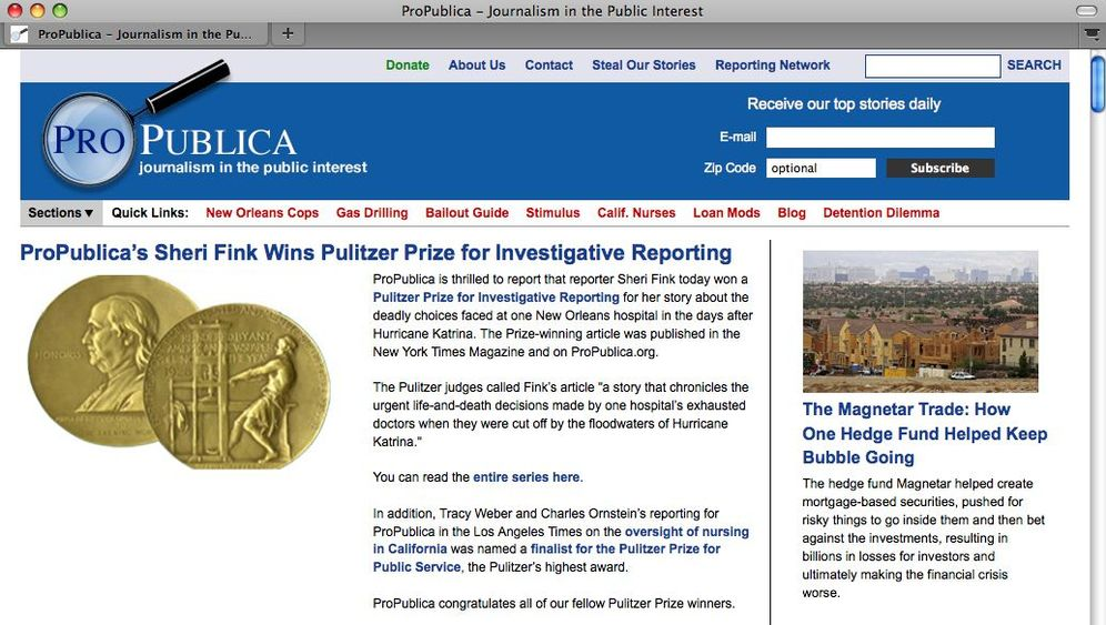 ProPublica: Gestifteter Journalismus