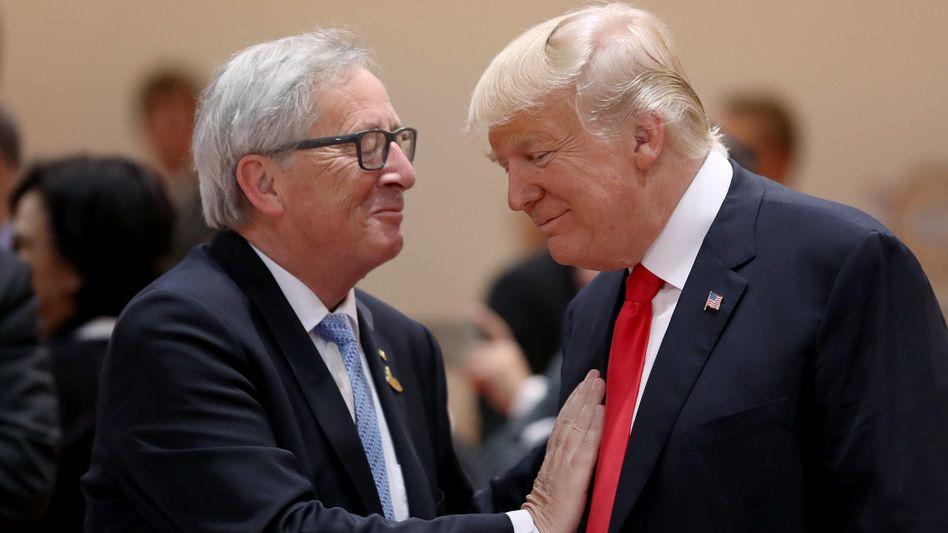 EU-Kommissionschef Jean-Claude Juncker, US-Präsident Donald Trump