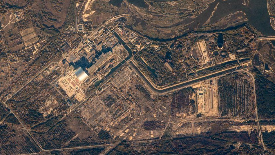 Tschernobyl Sarkophag Satellitenbild Zeigt Unglucksmeiler Der