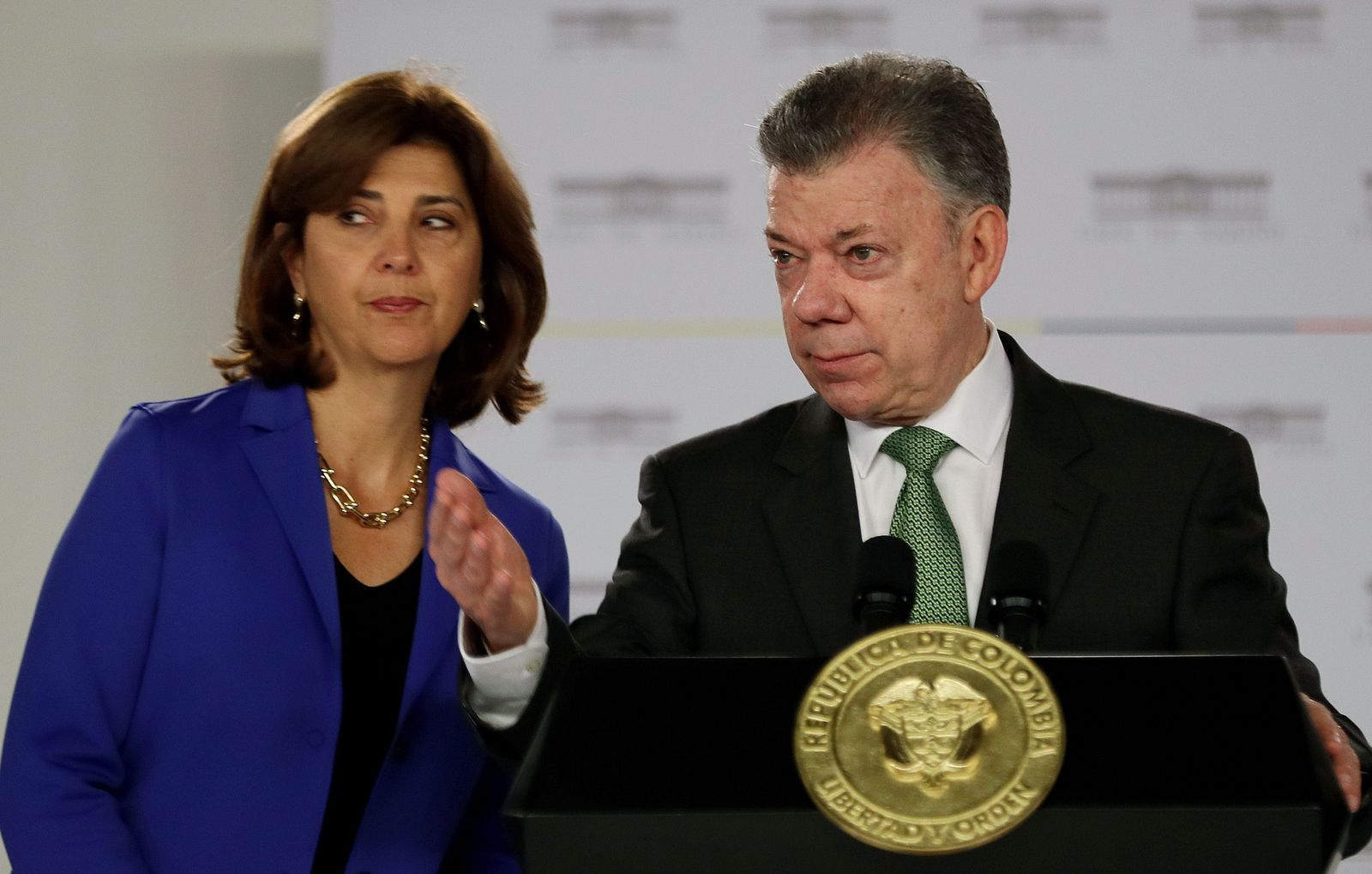 Juan Manuel Santos Maria Angela Holguin