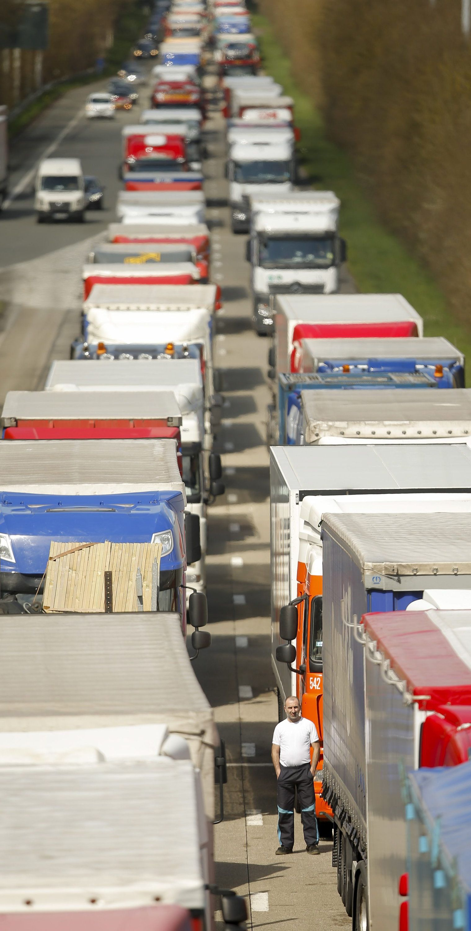 Belgium Motorway Blockage