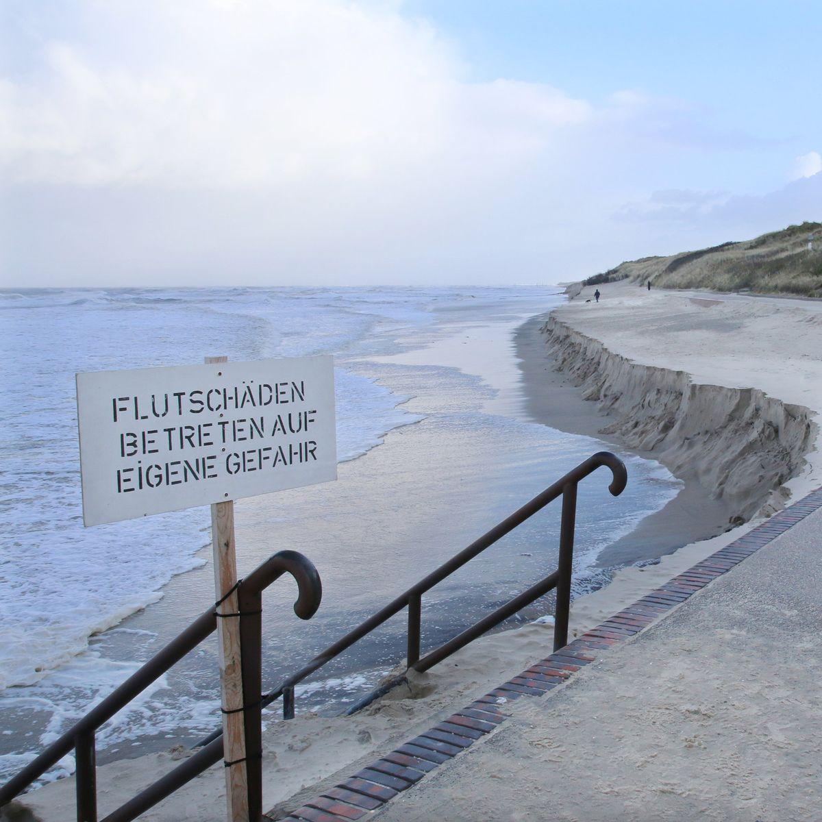 Sturmflutschäden auf Wangerooge: Kein schöner Strand in dieser Zeit