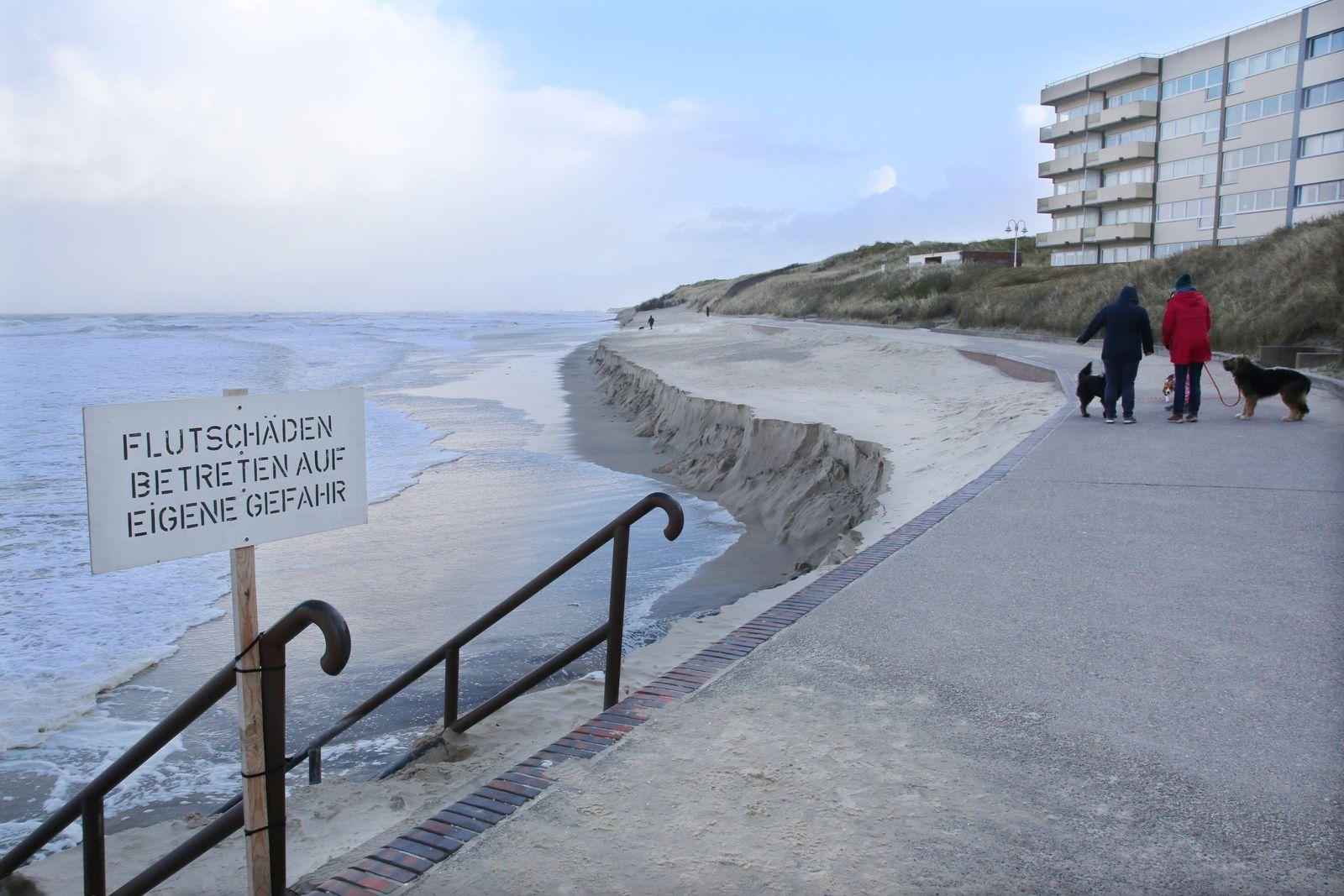 Nach Sturm Sabine - Wangerooge