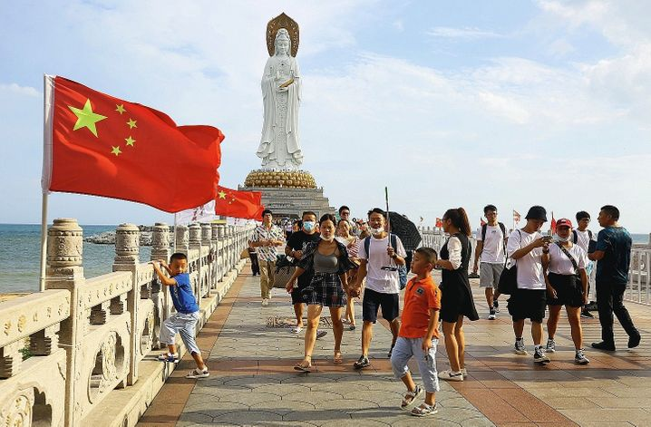 "Visitors to the island of Hainan in the south: ""The Chinese never bluff."""