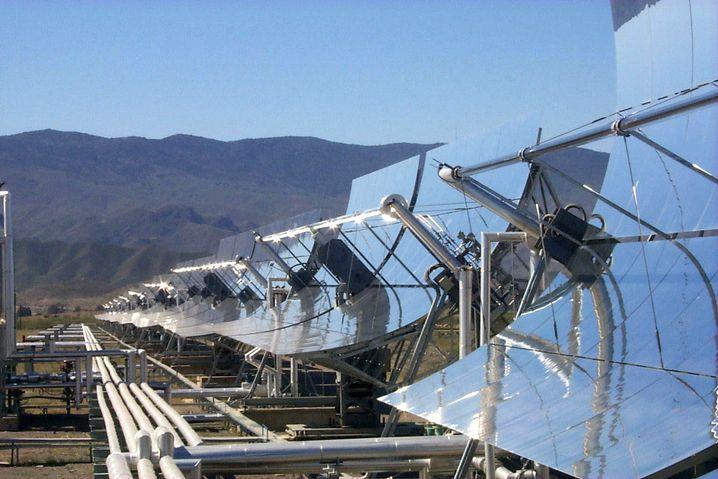Parabolrinnen-Kollektoren in Almeria (Spanien)