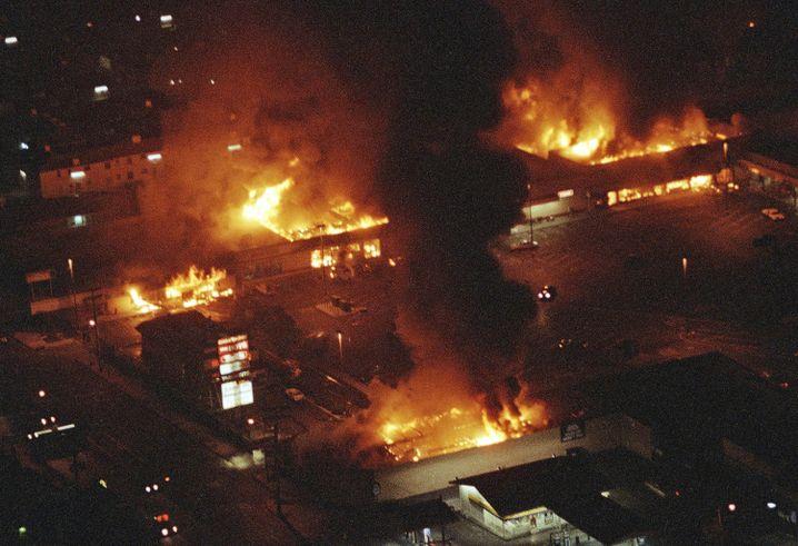 Los Angeles brennt: 1992 brachen nach der Polizeigewalt gegen Rodney King schwere Unruhen aus