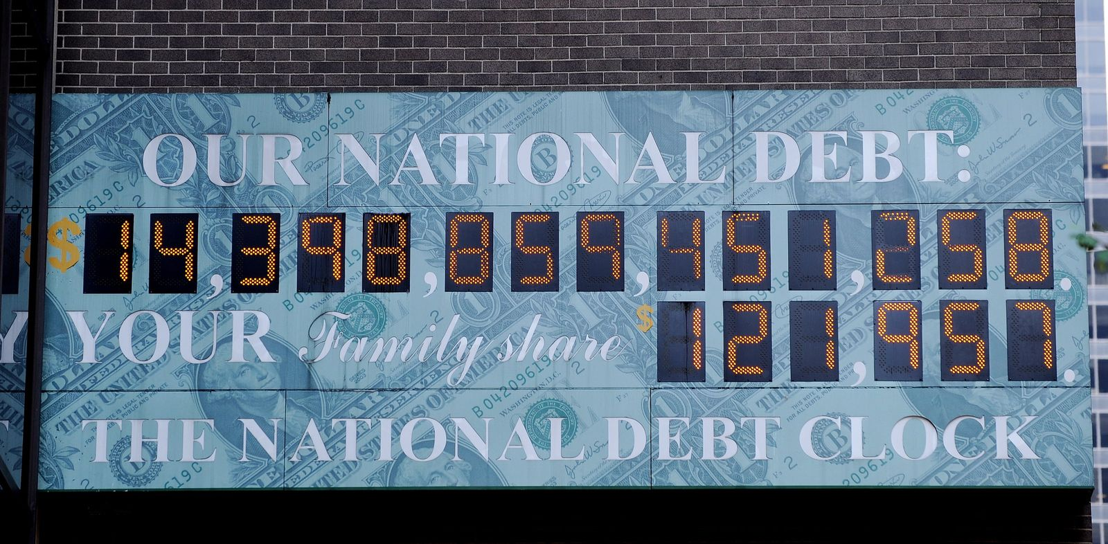 National debt clock in New York