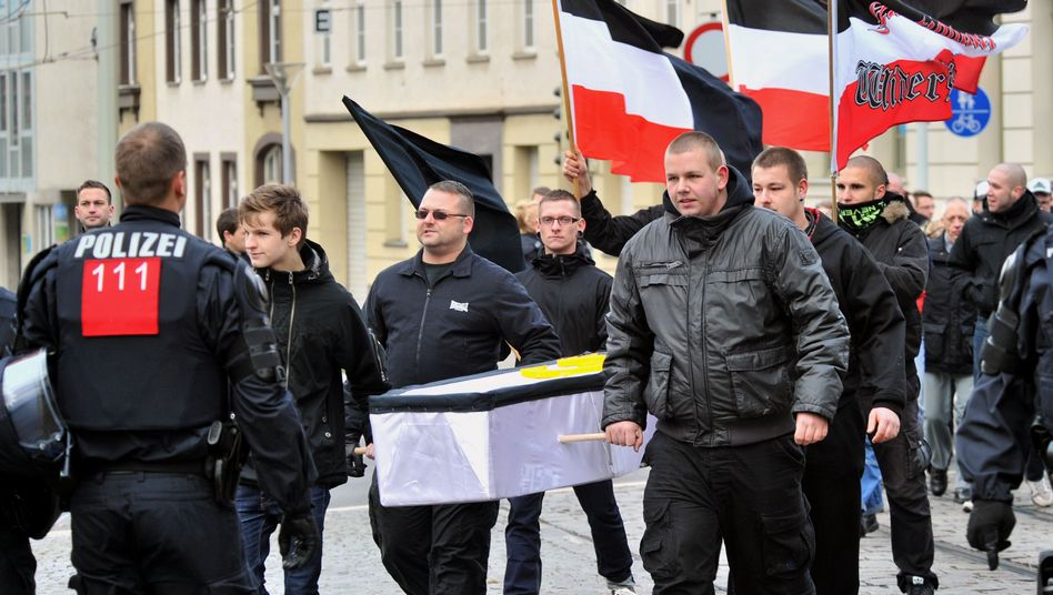 An NPD demonstration in the eastern German city of Gera in December 2011.
