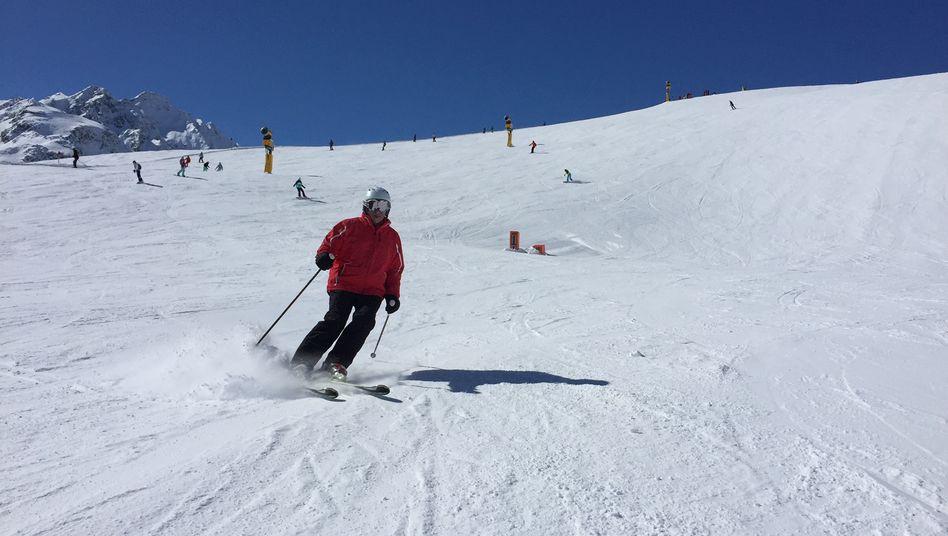 Corona-Opfer Helmut Otto auf der Skipiste