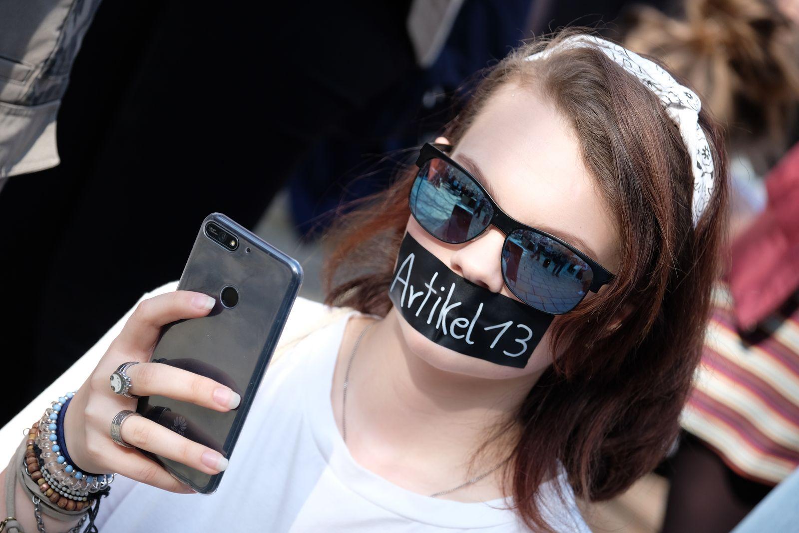 Protest gegen neues Urheberrecht - Jena