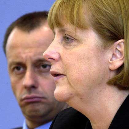 """Merz und Merkel im Juli 2001: """"Mach Dir mal keine Sorgen"""""""